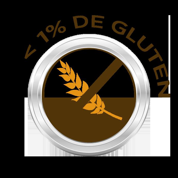 Moins de 1% de gluten